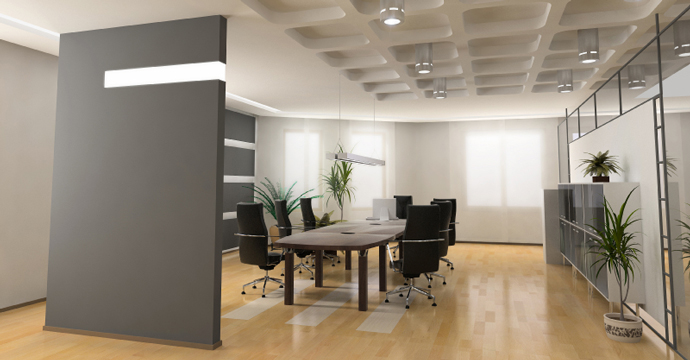 clean commercial office